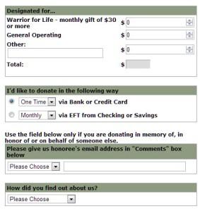 donation page clip